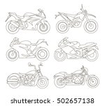 motorcycle icons set | Shutterstock .eps vector #502657138