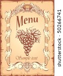 grunge grape banner in old ...   Shutterstock .eps vector #50266741