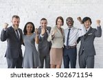business team working research... | Shutterstock . vector #502671154