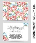 vintage delicate invitation... | Shutterstock . vector #502674136