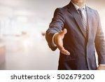 asian business man offering...   Shutterstock . vector #502679200