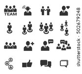 people icon   vector icon set | Shutterstock .eps vector #502679248