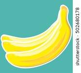 Banana Sticker Isolated. Banan...