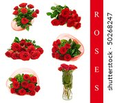 Set Of Different Roses Images...