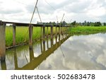 long bridge and reflection in... | Shutterstock . vector #502683478