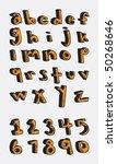 hand drawn alphabet   Shutterstock .eps vector #50268646