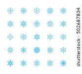 outline snowflakes icons | Shutterstock .eps vector #502687834