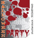 halloween party is an... | Shutterstock .eps vector #502689460