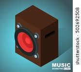 speaker icon. isometric