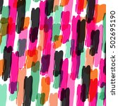color the pattern of brush... | Shutterstock .eps vector #502695190