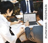 business corporate people... | Shutterstock . vector #502696636