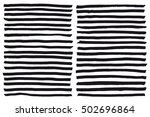black highlight stripes  brush... | Shutterstock .eps vector #502696864