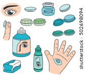 vector set of contact lenses | Shutterstock .eps vector #502698094