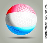 3d Golf Ball On Gray Background ...
