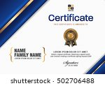 certificate vector luxury... | Shutterstock .eps vector #502706488