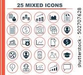 set of 25 universal editable... | Shutterstock .eps vector #502707628