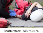 work accident. first aid... | Shutterstock . vector #502710676