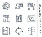 set of project management icons ... | Shutterstock .eps vector #502712383