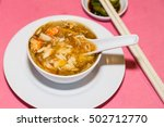 serving of shark fins crab meat ... | Shutterstock . vector #502712770