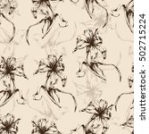 floral background  seamless... | Shutterstock .eps vector #502715224