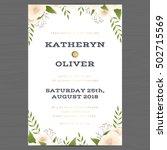 wedding invitation card... | Shutterstock .eps vector #502715569