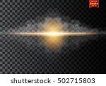 fog or smoke  lighting flare... | Shutterstock .eps vector #502715803