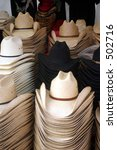 Cowboy Hats In A Store.