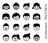 smiley face   happy face icons. ...