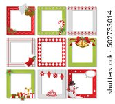 set of christmas frame vector... | Shutterstock .eps vector #502733014