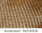 honeycomb cardboard cells... | Shutterstock . vector #502734250