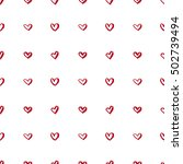 simple pattern with hearts.  | Shutterstock .eps vector #502739494
