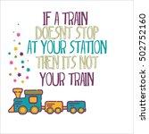 vector illustration  train... | Shutterstock .eps vector #502752160