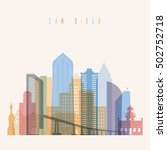transparent styled san diego... | Shutterstock .eps vector #502752718