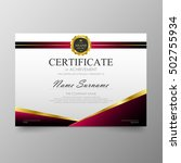 certificate template awards... | Shutterstock .eps vector #502755934