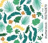 jungle pattern vector seamless... | Shutterstock .eps vector #502762870