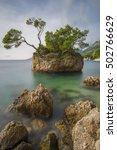 "famous ""brela rock"" in punta...   Shutterstock . vector #502766629"