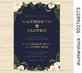 wedding invitation card...   Shutterstock .eps vector #502768573