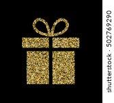 gold glitter vector icon of... | Shutterstock .eps vector #502769290