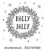 vector sketch of christmas... | Shutterstock .eps vector #502769380