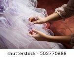 handmade dress. fashion making... | Shutterstock . vector #502770688