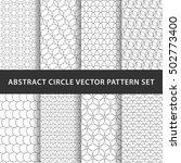 geometric circle vector pattern ... | Shutterstock .eps vector #502773400