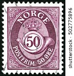 norway   circa 1910  a stamp...   Shutterstock . vector #502775896
