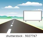 vectorized blank billboard for... | Shutterstock .eps vector #5027767