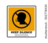 keep silence sign   Shutterstock .eps vector #502778434