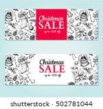 christmas sale banner. vector... | Shutterstock .eps vector #502781044