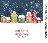 merry christmas greeting card ... | Shutterstock .eps vector #502781464