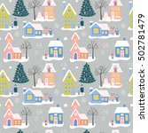 christmas holiday seamless... | Shutterstock .eps vector #502781479