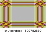 picture frame abstract... | Shutterstock . vector #502782880