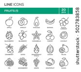set of fruit thin line icons in ... | Shutterstock .eps vector #502783858