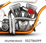 motorcycle engine v twin... | Shutterstock . vector #502786099